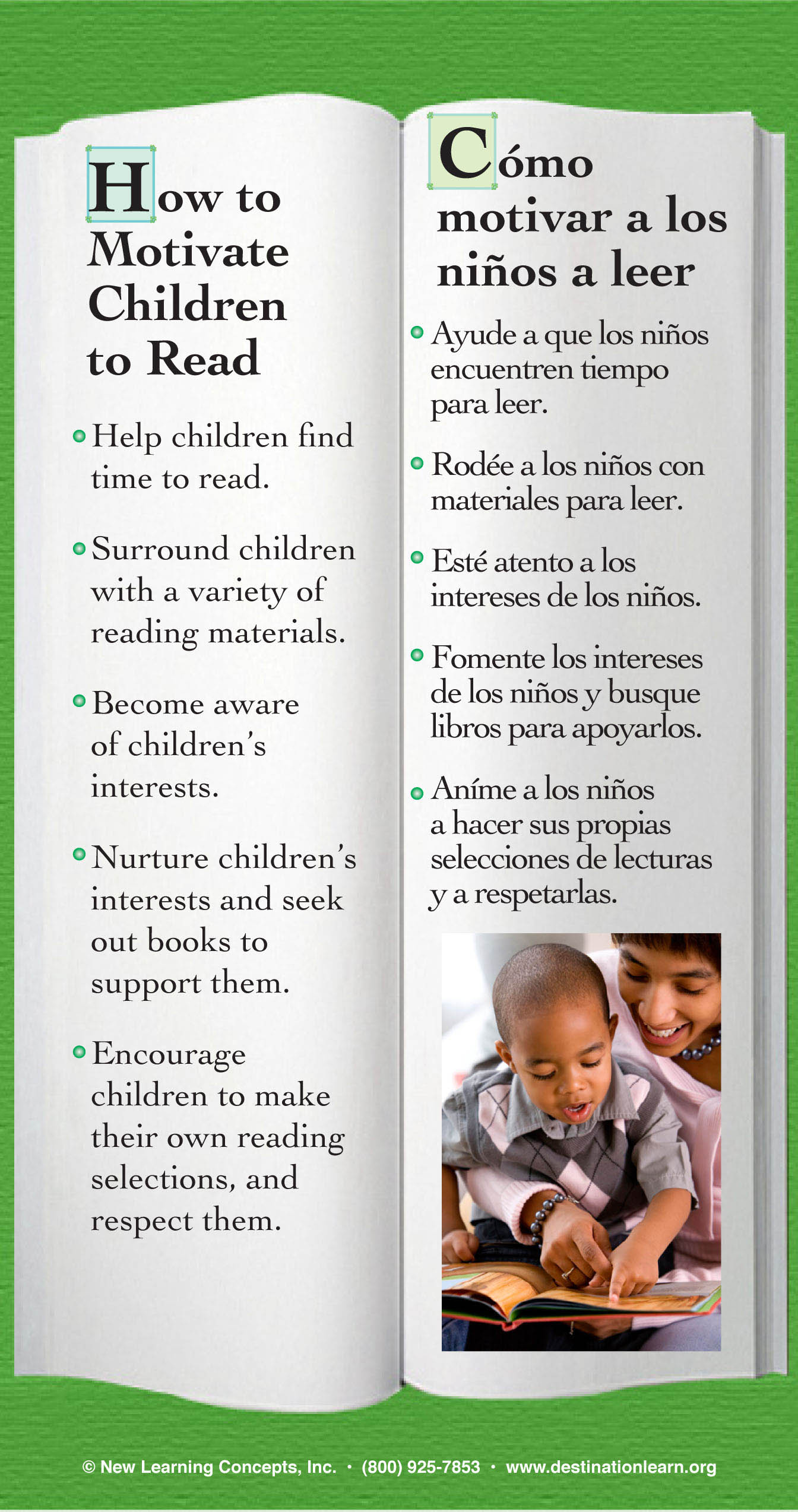 Motivate to read side by side bookmark